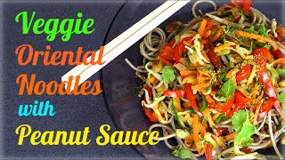 Veggie Asian Soba Noodles With Peanut Sauce (healthy Recipe)