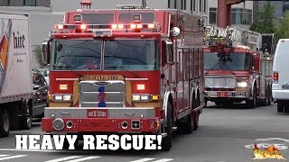 [SEATTLE HEAVY RESCUE RESPONSE] - Car crashed into RESTAURANT   Seattle Fire Department