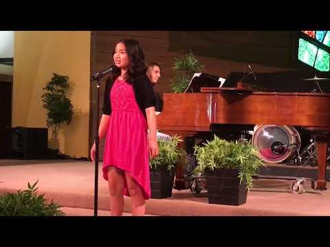 12 year old Amanda Marcos sings HERO