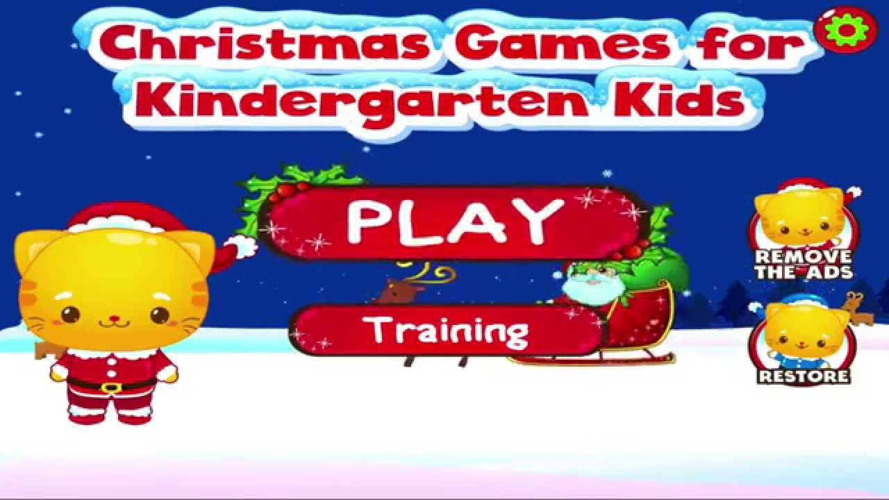 Christmas Kindergarten Games - YouTube