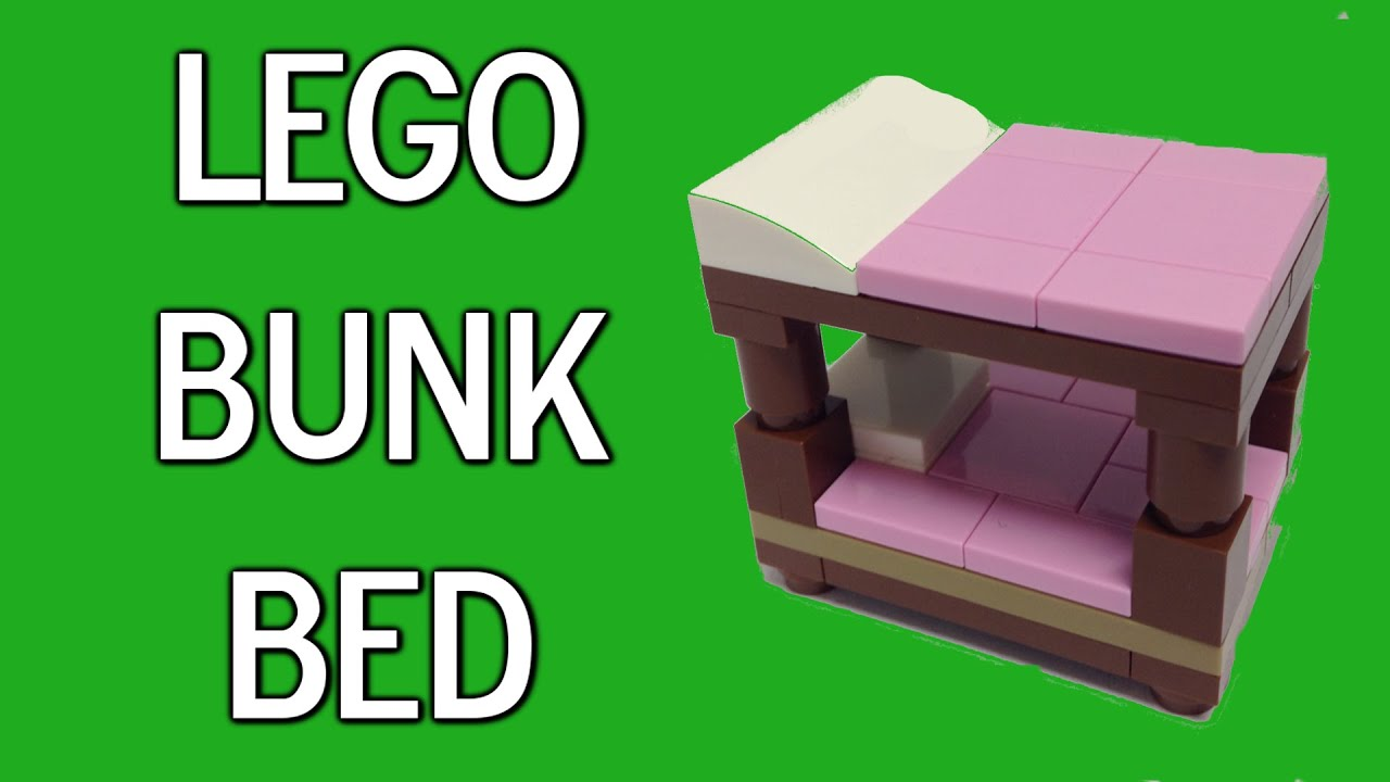 how to build a lego bunk bed youtube. Black Bedroom Furniture Sets. Home Design Ideas