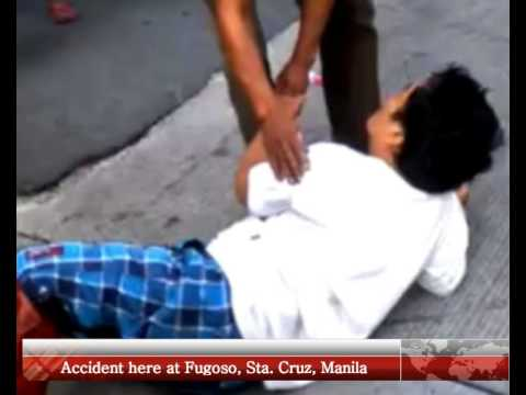 Accident here at Fugoso, Sta  Cruz, Manila