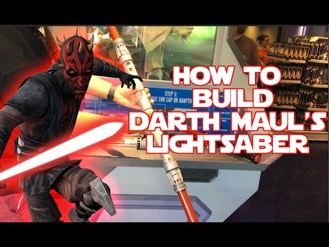 star wars build your own darth maul lightsaber toy at disneyland