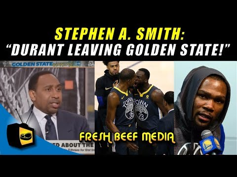 KEVIN DURANT LEAVING GOLDEN STATE WARRIORS! Stephen A. Smith sources claim, draymond green fight