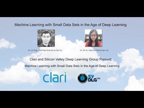 Machine Learning with Small Data Sets in the Age of Deep Learning