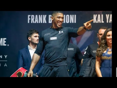 ANTHONY JOSHUA SAYS HE'S GONNA RAIN H*LL DOWN ON DEONTAY WILDER,  PUTS WILDER ON NOTICE