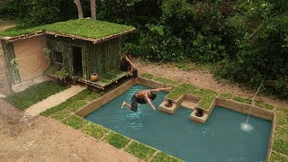 Build Largest Underground Swimming Pool And Roof Grass House