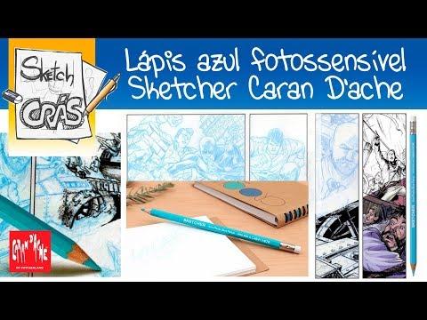 Lápis AZUL Fotossensível Sketcher Caran D'ache - Sketch Crás