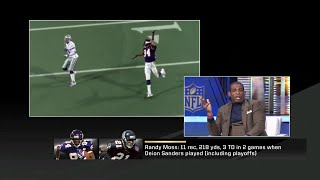 Deion Sanders describes what it was like to cover Randy Moss
