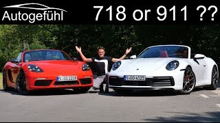 Porsche 718 or 911 ? The comparison! New Porsche 911 4S Cabriolet vs 718 Boxster T