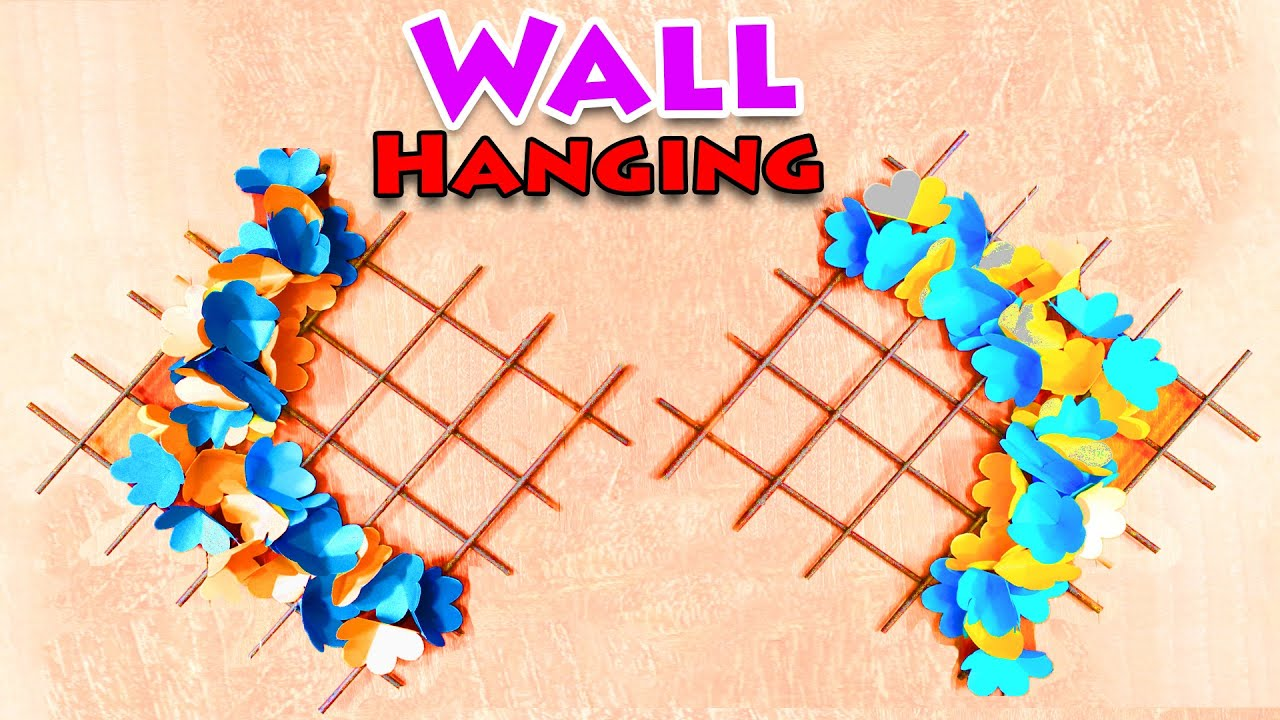 DIY Paper Wall Hanging for Home Decoration | Easy way to make wall ...