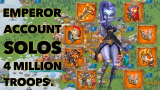 Emperor SOLO ZEROES 4M troops Lords Mobile