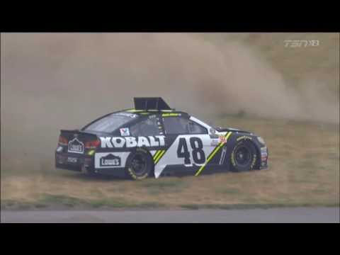 Monster Energy NASCAR Cup Series 2017. FP2 Michigan International Speedway. Jimmie Johnson Spins