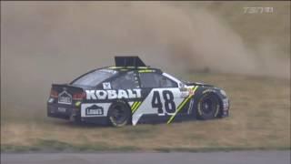 Monster Energy NASCAR Cup Series 2017. FP2 Michigan International Speedway. Jimmie Johnson Spins