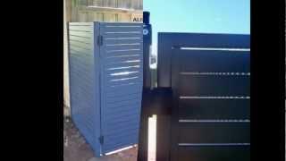 Alislat Powder Coated Aluminium Slat Gates Perth W.a