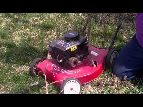 Turn Lawnmower into a WOOD CHIPPER