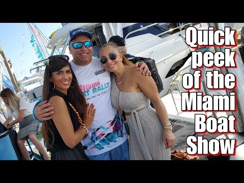 The Miami Boat Show & The Miami Boat Rally