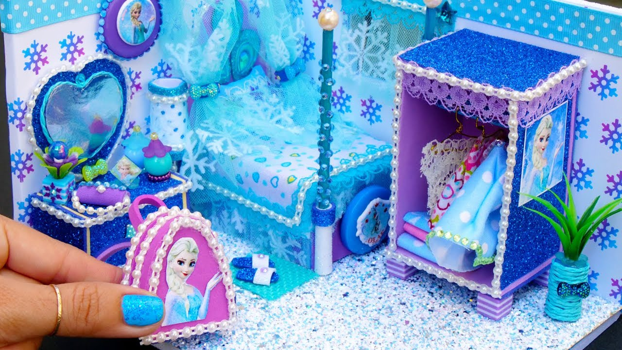 Frozen Bathroom Diy Miniature Frozen Bedroom And Bathroom