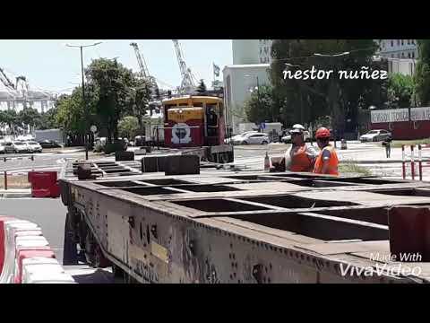 Locomotora GE  44 ton.de AGP sacando chatas canadienses desde el puerto a empalme norte