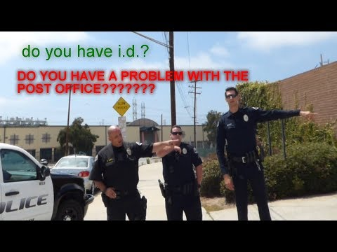 U.S. POST OFFICE (REDONDO BEACH POLICE OWNED)  Big Intimidation Fail = 1st Amendment Audit