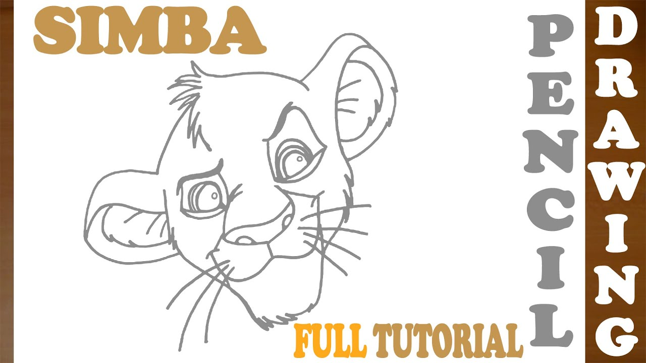 Uncategorized How To Draw Simba And Nala how to draw simba from lion king step by easy young pencil drawing tutorial full youtube