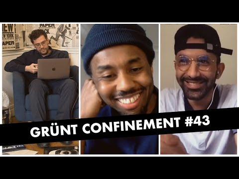 Youtube: Grünt Confinement  #43 avec Hash 24 et Azzedine Fall