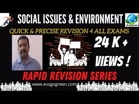 social issues and environment rapid revision video lecture