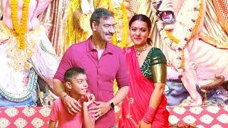 Ajay Devgan & Kajol Wid Family: Son Yug Devgn Celberates Durga Puja Festival 2019 In Juhu