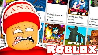 THE WORST COPIES OF MINING SIMULATOR → THE ROBLOX COPY HUNTER!! 🎮