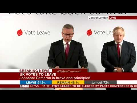 Full Press Conference Boris Johnson & Co after the #Brexit vote