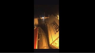 Watch: Lorries topple over on Scotland-bound ferry amid 'extreme weather'