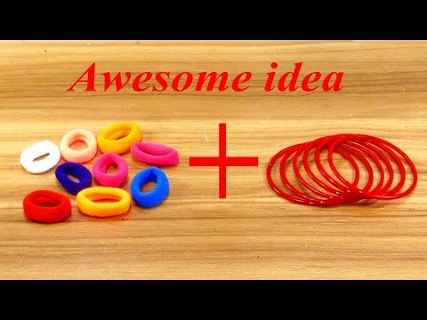 Best craft idea | old bangles reuse idea | DIY arts and crafts | Awesome craft idea