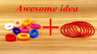 Best craft idea | old bangles reuse idea | DIY arts and crafts | Awesome craft idea