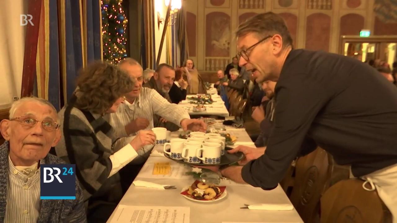 Weihnachtsessen In München.Weihnachten Im Hofbräuhaus In München Ein Herz Für Obdachlose Br24