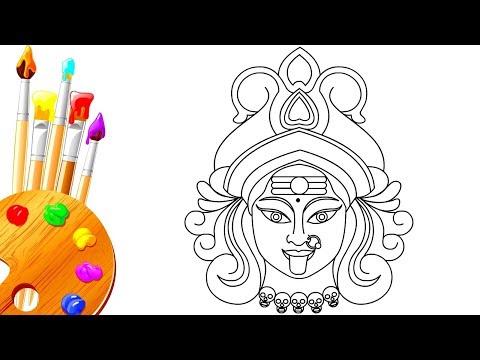 How To Draw Dussehra Navratri Hindu Goddess Kali Devi