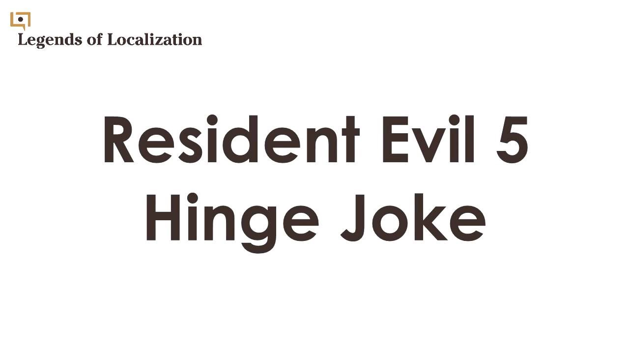 How the Resident Evil 5 Door Pun Is Handled in Japanese