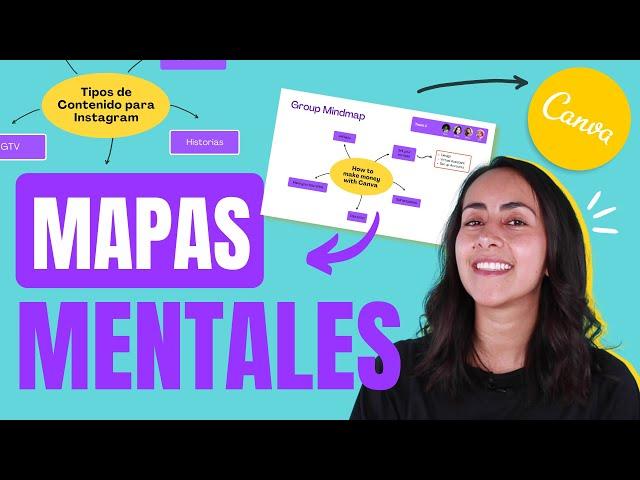Cómo diseñar un MAPA MENTAL online GRATIS en Canva - Crea tus MIND MAPS fácil y rápido