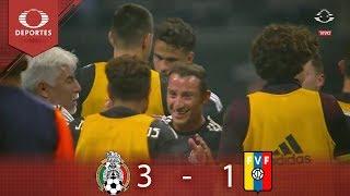 ¡Fiesta tricolor! | México 3 - 1 Venezuela | Partido Amistoso - Televisa Deportes