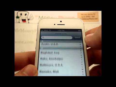 iPhone 5 - How to Set World Clock (Add / Delete Locations) - Apple iPhone 5 - Tutorial #08