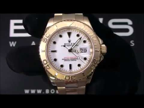 Rolex 18k Yacht-Master 16628 Certified Pre-Owned For Sale