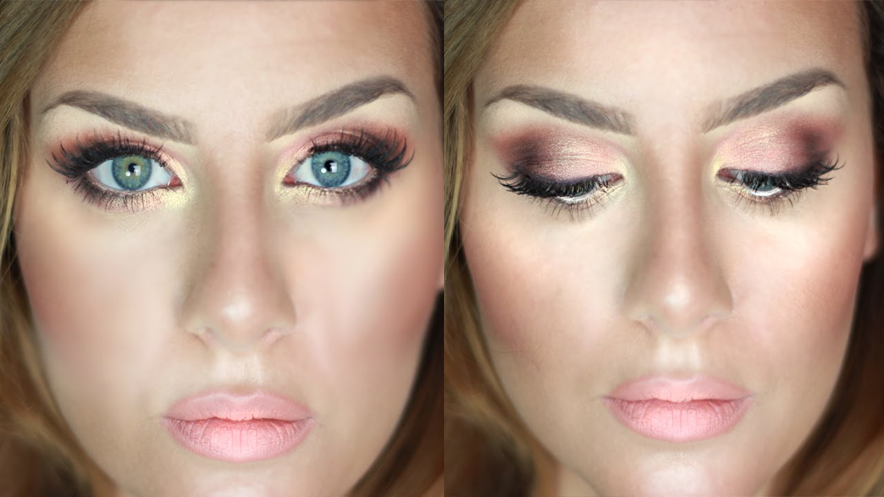 Make up CERIMONIA Tutorial Trucco Rosa Pesca e Oro