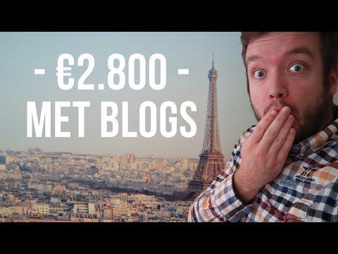 €2.800 Inkomsten met blogs – Geld verdienen met bloggen