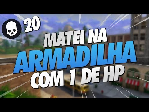 MATEI NA TRAP COM 1 DE HP - FORTNITE GAMEPLAY