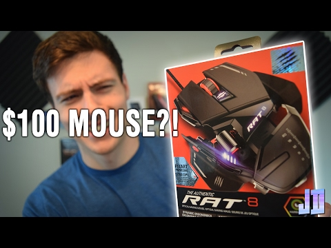 Is A MOUSE Worth $100? MAD CATZ RAT 8 Mouse Unboxing And Review - PC GEAR