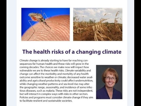 The health risks of a changing climate: Dr Kristie Ebi (February 2017)