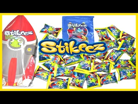 Lidl STIKEEZ From Space 2016 | Collector Bag, Album and 25 Stikeez Surprise Pack Opening | DSV Toys