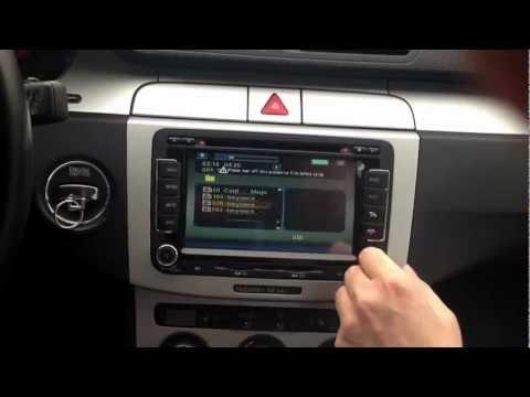 Vw Passat Polo Caddy Dvd Gps Bilstereo Montering Youtube