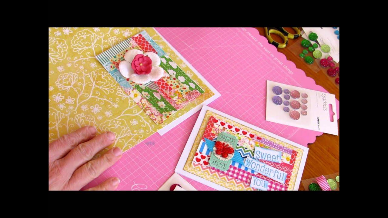 card making tutorial birthday card using washi tape youtube. Black Bedroom Furniture Sets. Home Design Ideas