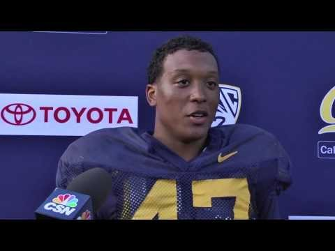 Cal Football: Hardy Nickerson - LB Post Practice 8/28/13