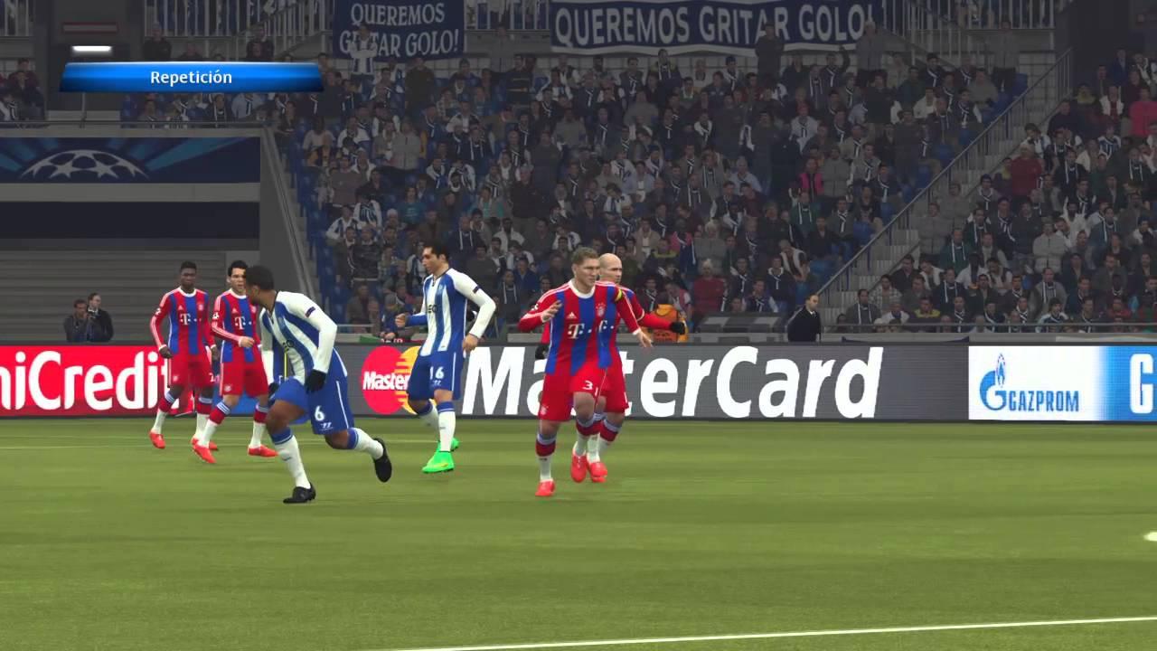 UEFA Champions League POR vs FCB Cuartos de Final Ida Pes 2015 - YouTube